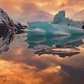 Sunset On Iceberg by Scott Slone