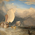 Fishing Boats With Hucksters Bargaining For Fish by Joseph Mallord William Turner
