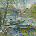 Fishing In Spring, The Pont De Clichy  by Vincent van Gogh