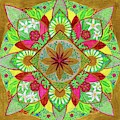 Flower Garden Mandala by Sandy Thurlow