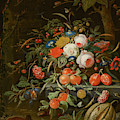 Flowers And Fruit by Abraham Mignon