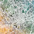 Frankfurt Germany City Map by Michael Tompsett