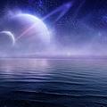 Futuristic Evening Seascape by Da-kuk