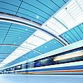 Futuristic Train by Nikada