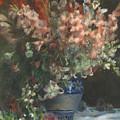 Gladioli In A Vase  by Pierre Auguste Renoir