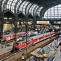 Hamburg Central Train Station by Izzet Keribar