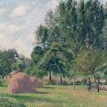 Haystacks, Morning, Eragny, 1899 by Camille Pissarro