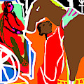 Horse And Carriage by Artist Dot
