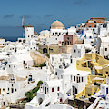 Iconic View Of Oia In Santorini In Greece by Didier Marti
