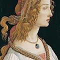 Portrait Of A Young Woman, Portrait Of Simonetta Vespucci As Nymph by Sandro Botticelli