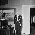 In The Photo The New President Of The Republic Urho Kekkonen Is Photographed At The Presidential Pa by Celestial Images