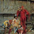 Jesters Playing Cochonnet by Eduardo Zamacois y Zabala