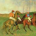 Jockeys And Race Horses by Edgar Degas