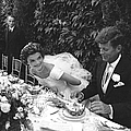 John F. Kennedy And Jacqueline Kennedy by Lisa Larsen
