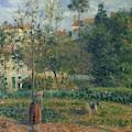 Kitchen Garden At The Hermitage, Pontoise, 1879 by Camille Pissarro