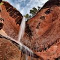 Kolob Canyons Falling Waters by Leland D Howard