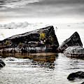 Lake Hurons Rocky Shore by Evie Carrier