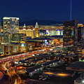 Las Vegas Nv  Strip Aerial  by Susan Candelario