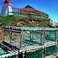 Lobster Traps Neils Harbour Lightstation by Thomas R Fletcher