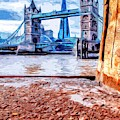 London Tower Bridge And The Shard by Nigel Dudson
