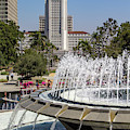Los Angeles City Hall And Arthur J. Will Memorial Fountain by Roslyn Wilkins