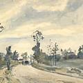 Louveciennes  Route De Saint   Germain  by Camille Pissarro
