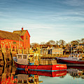 Low Tide And Lobster Boats At Motif #1 by Jeff Sinon
