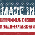 Made In Lebanon, New Hampshire by Tinto Designs