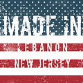Made In Lebanon, New Jersey by Tinto Designs