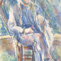 Man Wearing A Straw Hat by Paul Cezanne