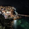 Manarola At Night by Jaroslaw Blaminsky