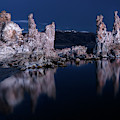 Mono Lake Moonlight by Leland D Howard