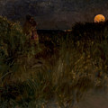 Moonrise Over The Dunes  by Eilif Peterssen