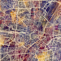 Munich Germany City Map by Michael Tompsett