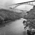 New River Gorge Bridge In Rain by Thomas R Fletcher
