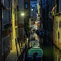 Night Walk In Venice by Jaroslaw Blaminsky
