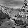 Nordegg Bighorn Canyon Rainbow Black And White by Adam Jewell