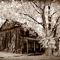 Old Toned Infrared Farm House by Paul W Faust - Impressions of Light