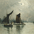 On The Thames  by Frank Myers Boggs