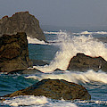 Panoramic Sea Stacks Harris State Beach Oregon by Dave Welling
