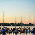 People Relaxing At Yacht Harbor At by Thomas Winz