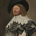 Portrait Of A Man  Possibly Nicolaes Pietersz Duyst Van Voorhout  by Frans Hals