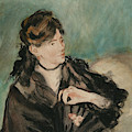 Portrait Of Berthe Morisot With A Fan by Edouard Manet