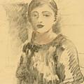 Portrait Of Julie Manet by Berthe Morisot