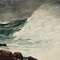 Prout's Neck, Breaking Wave by Winslow Homer