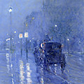 Rainy Midnight, Late 1890s  by Childe Hassam