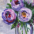 Ranunculus Flowers Bouquet Floral Impressionism  by Irina Sztukowski