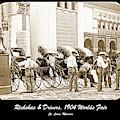 Rickshas And Drivers, 1904 Worlds Fair by A Gurmankin