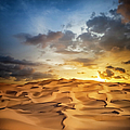 Sand Dune Sunset by Cinoby