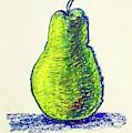 Single Pear by Asha Sudhaker Shenoy